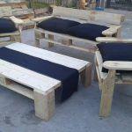 Pallet Patio Seating Furniture Set