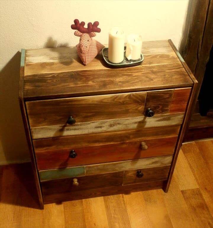 Awesome Wooden Pllet Dresser Or Side Table
