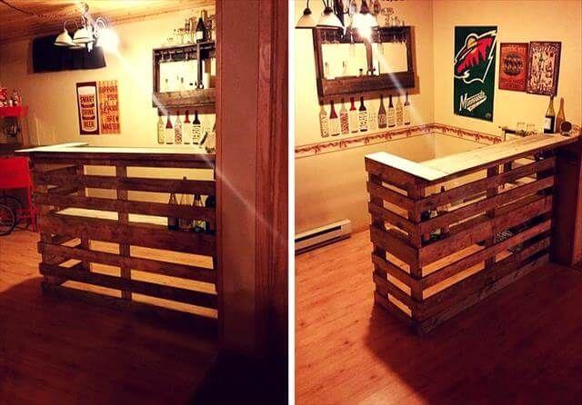 DIY pallet bar table design