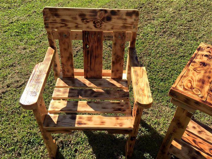 diy pallet outdoor chair