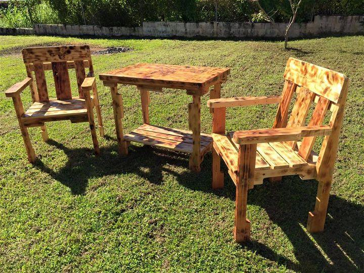 wooden pallet outdoor furniture