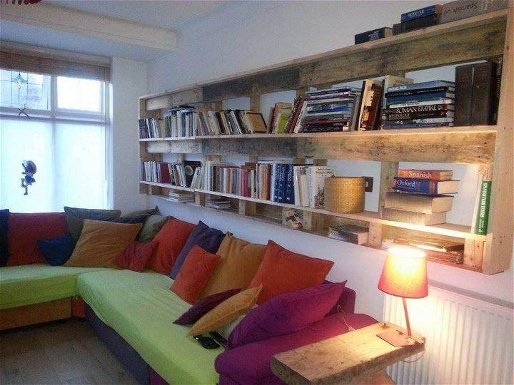 Wooden Pallet Bookcase Designs