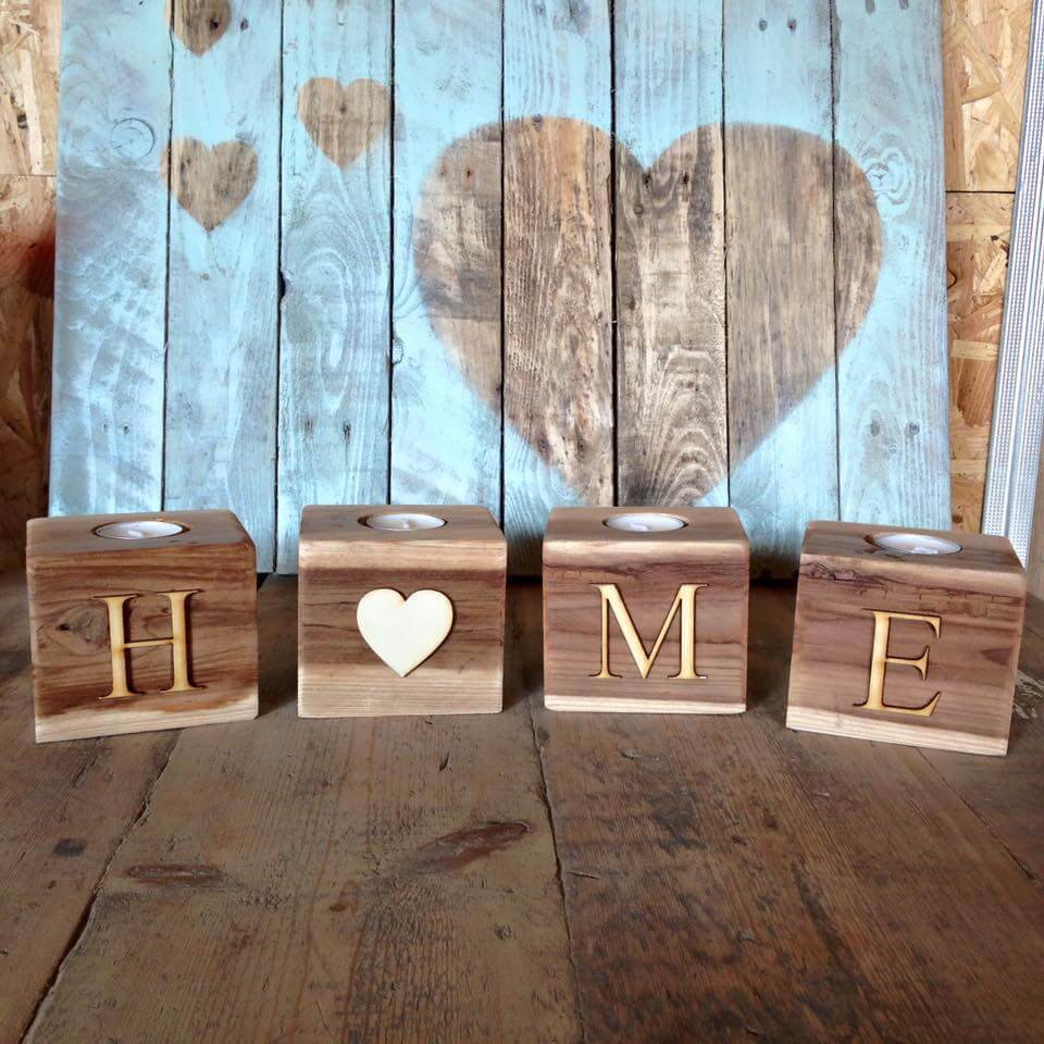 Pallet Home Wooden Pallet Candle Holder Ideas 99 Pallets