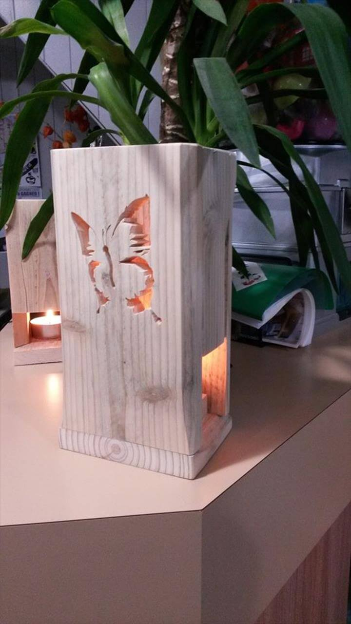recycled pallet butterfly light gift