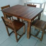 Wooden Pallet Dining Furniture Set