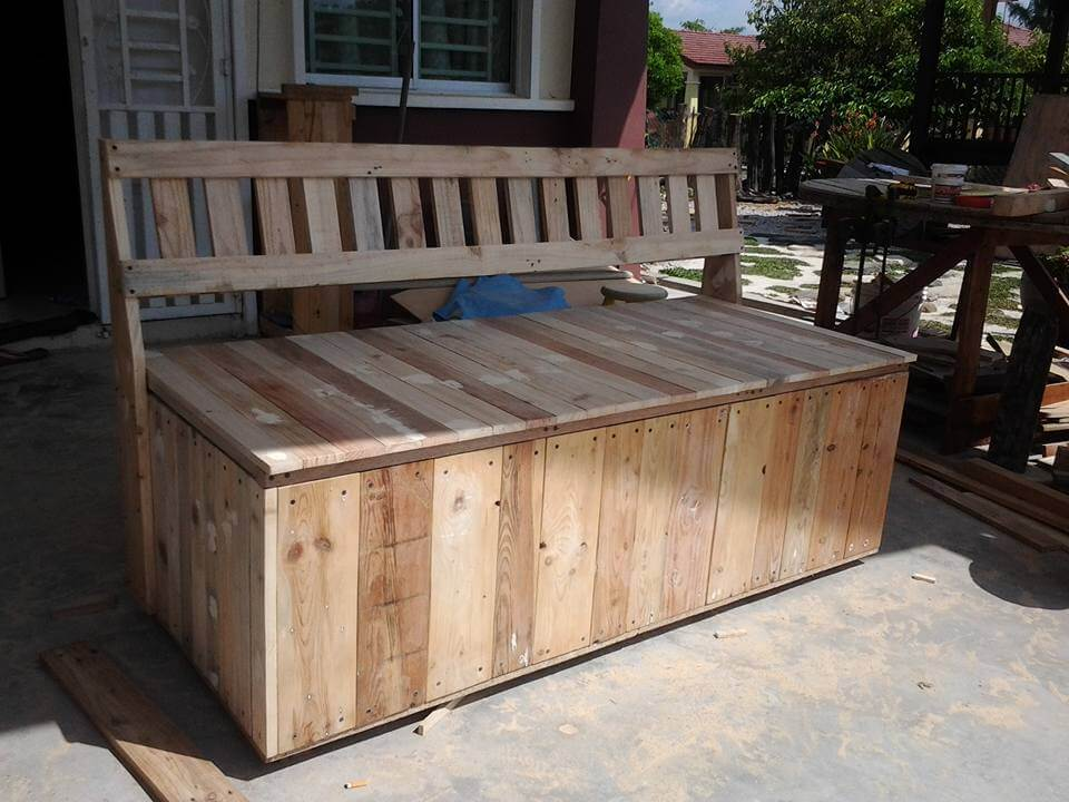 To make this double functional pallet furniture you would have to ...