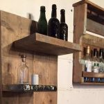 Pallet Wall Mounted Shelf Unit