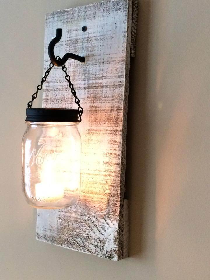 Kitchen Lights Made From Mason Jars