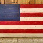 DIY Wood Pallet Flag Art