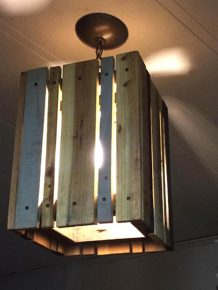 Pallet Pendant Light