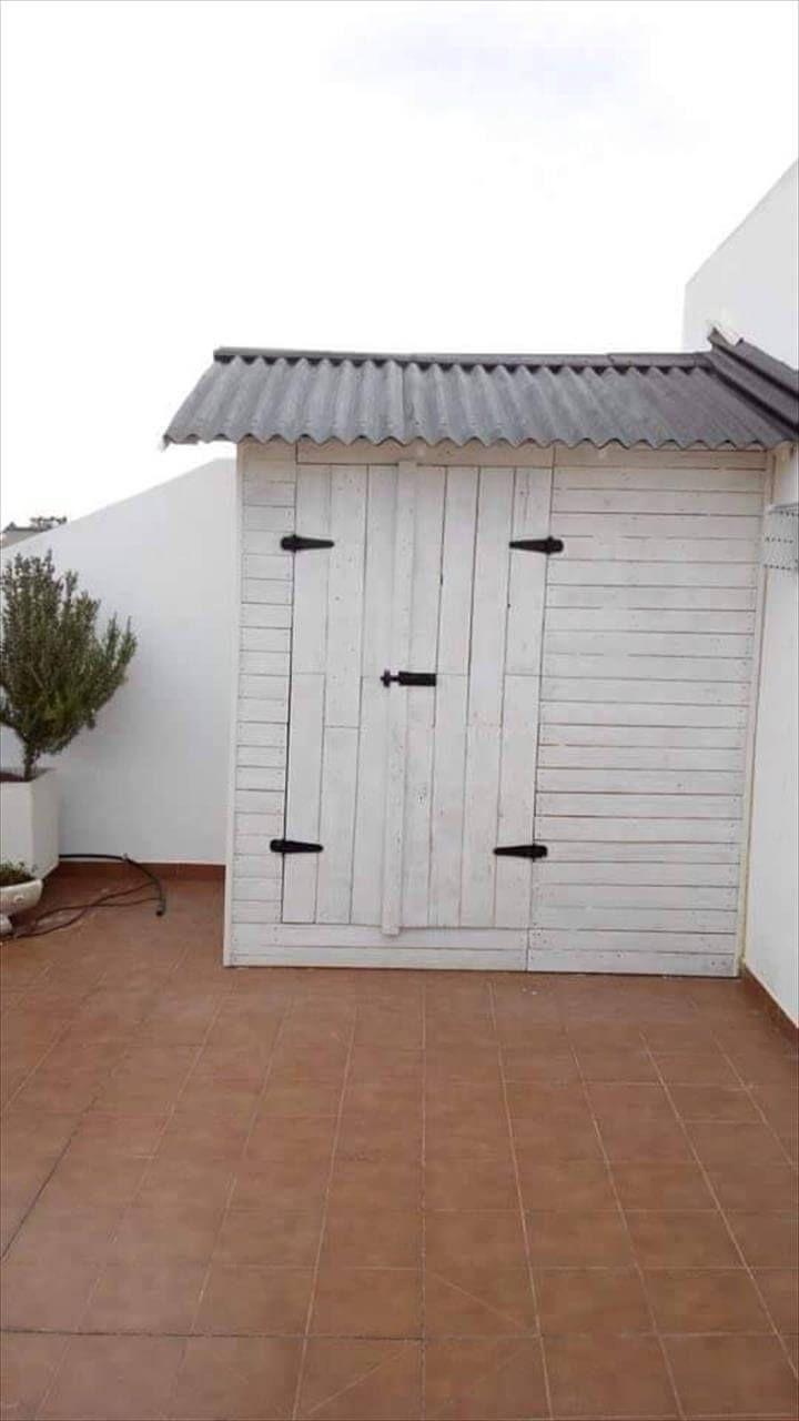 diy pallet storage shed