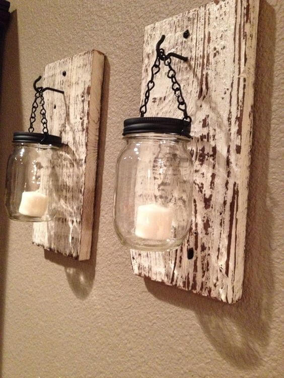 DIY Pallets And Mason Jar Lamps 99 Pallets