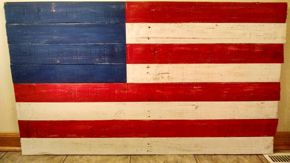 Diy Wood Pallet Flag Art