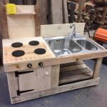 Pallet Mud Kitchen with Sink