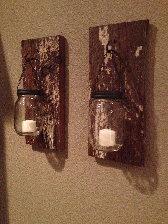 Diy Pallets And Mason Jar Lamps