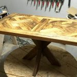 Pallet Dining Tables With X Base