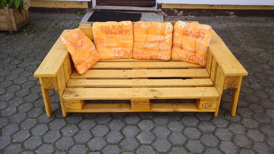 2 seater pallet sturdy lounge chair