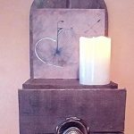 Wall Mounted Pallet Candle Holder
