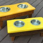 Recycled Pallets Dog Bowl Stand
