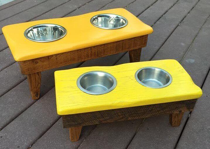 pallet dog bowl stand