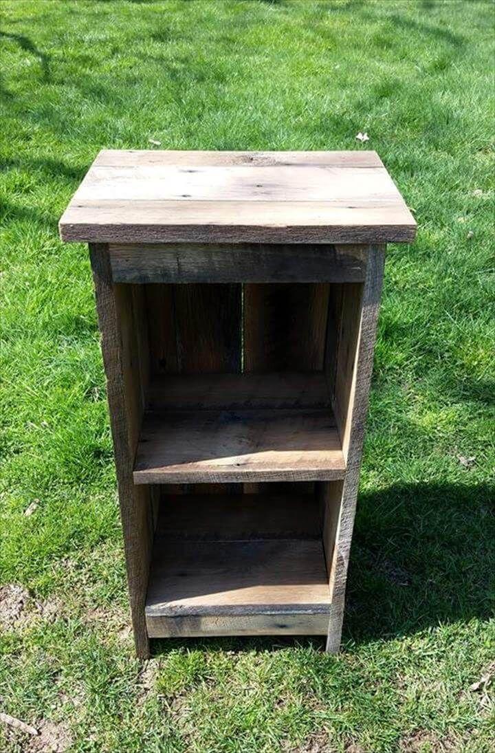 Wooden pallet nightstand 99 pallets for Diy rustic nightstand