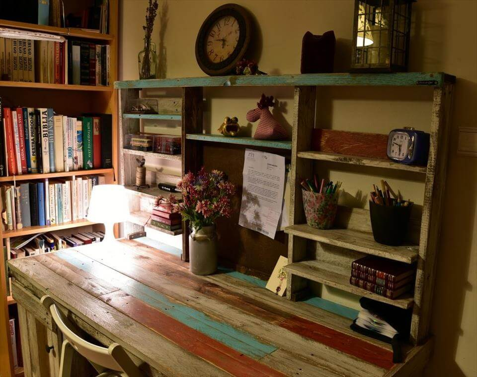 Wooden pallet study desk or table