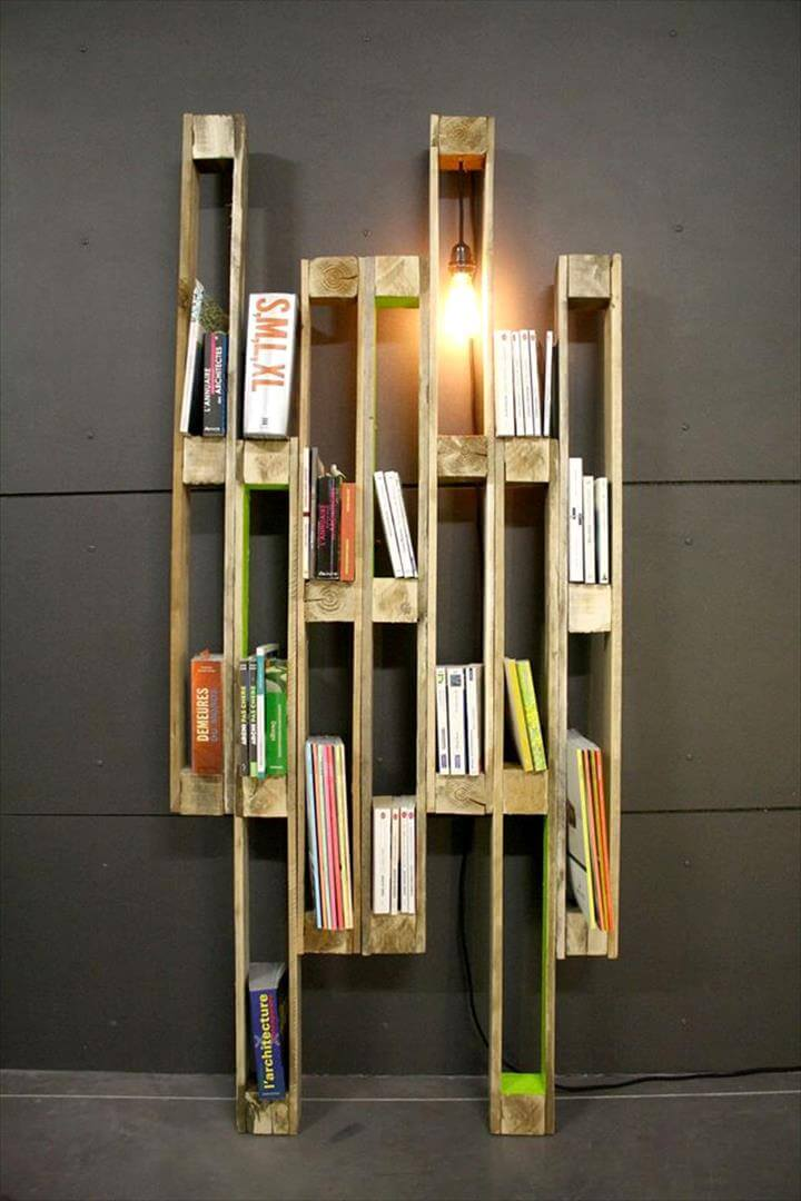 diy pallet creative shelf