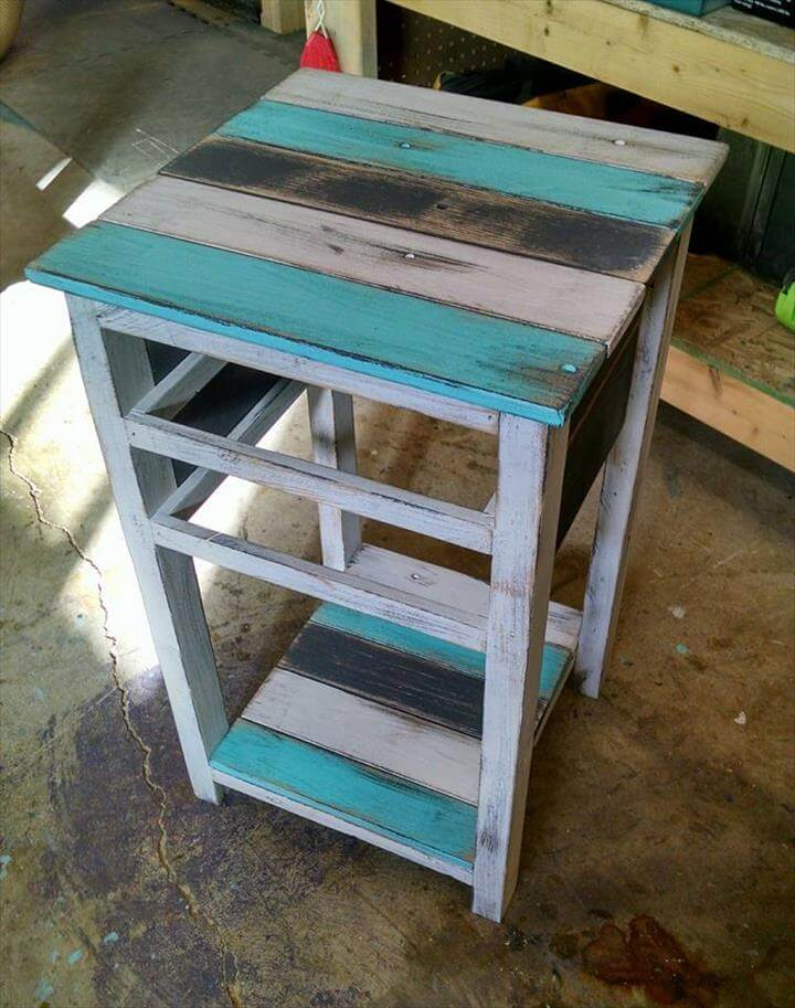 Rustic pallet end tables 99 pallets for End tables out of pallets