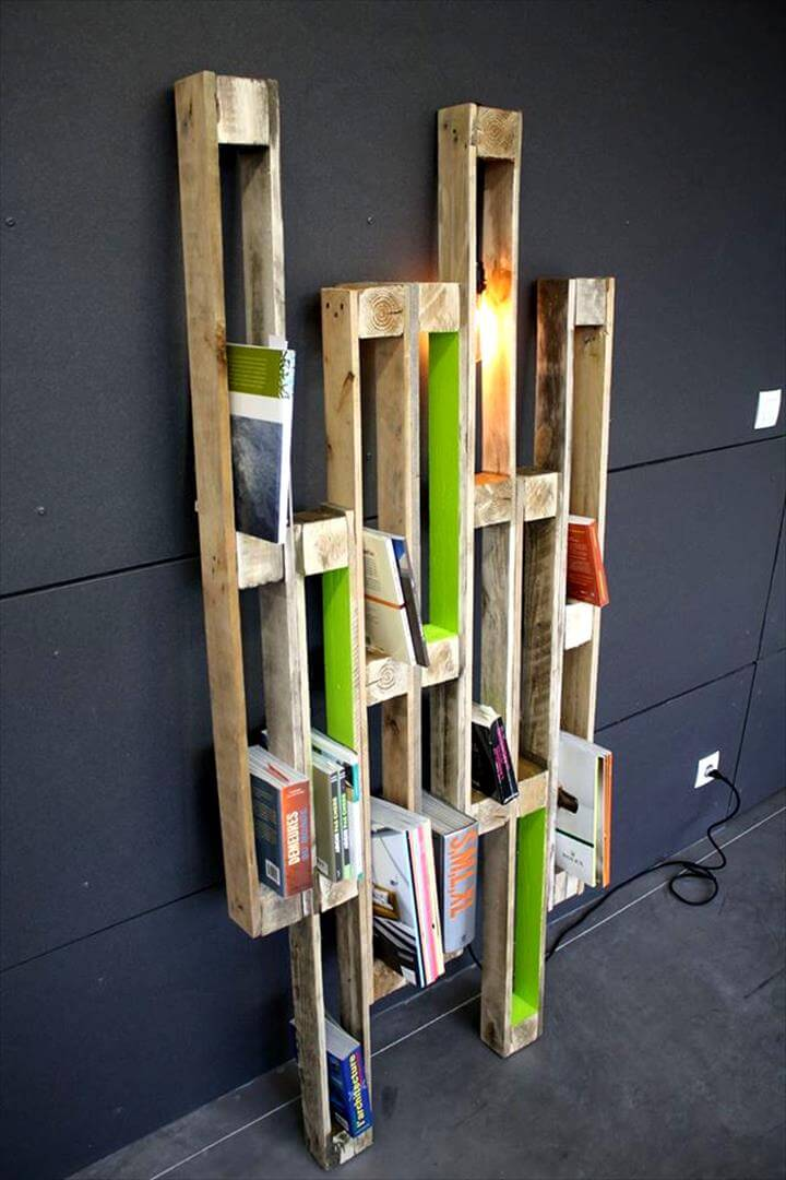 wooden pallet creative shelf