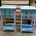 Rustic Pallet End Tables