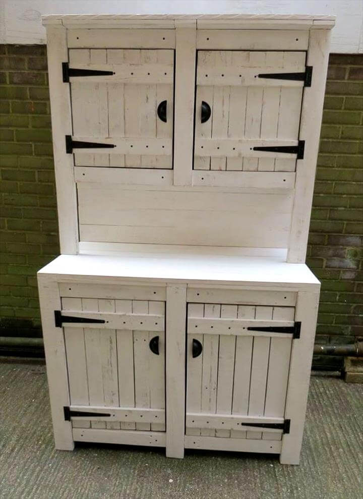 Pallet kitchen cabinets hutch for Kitchen units