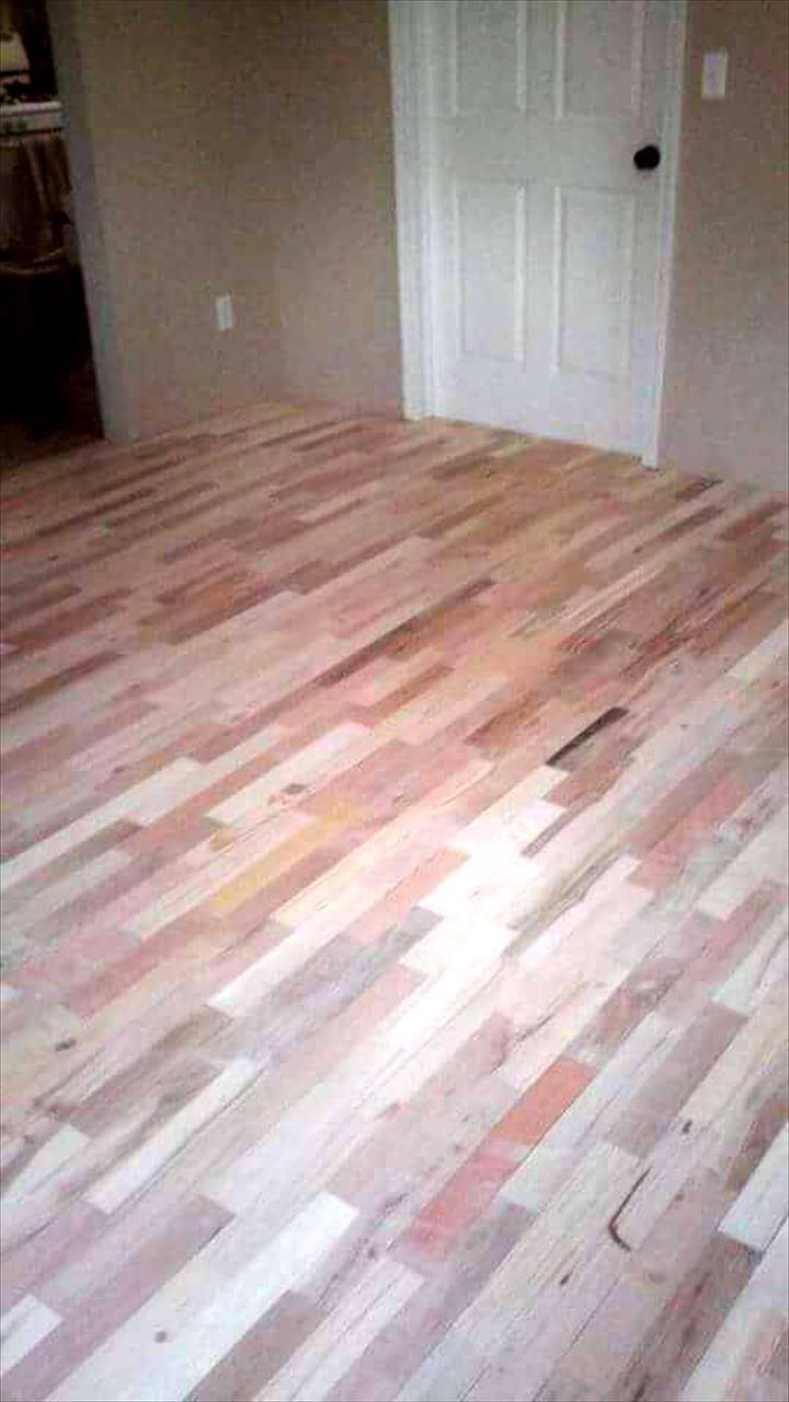 diy pallet flooring project