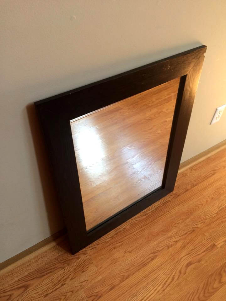 diy pallet accent wall mirror