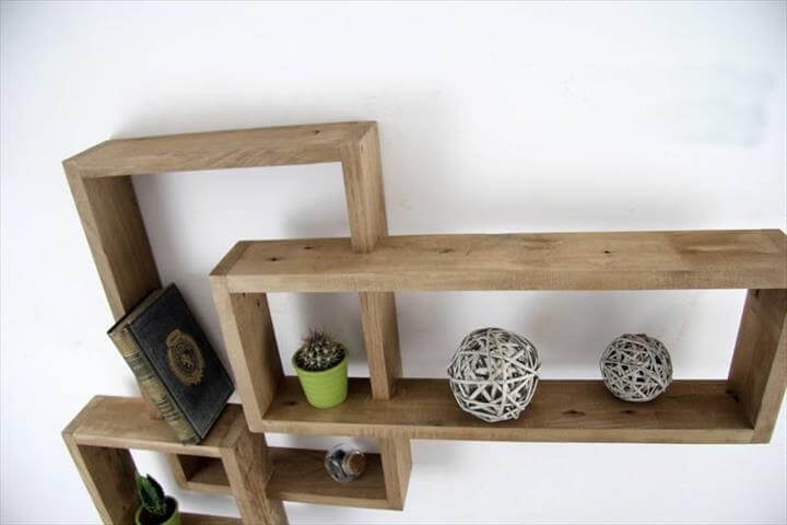 diy wooden pallet art style display unit