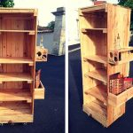 Pallets Beverage Bottle Rack on Wheels
