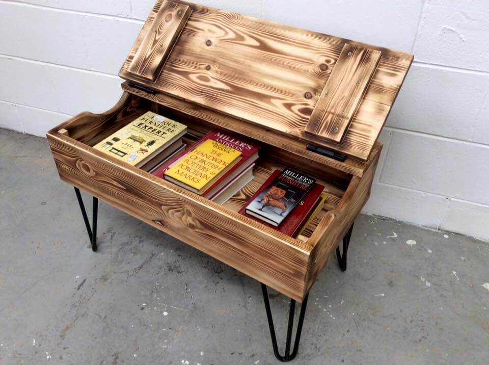 Pallet Coffee Table With Hair Pin Legs 99 Pallets