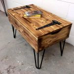 Pallet Coffee Table with Hair Pin Legs