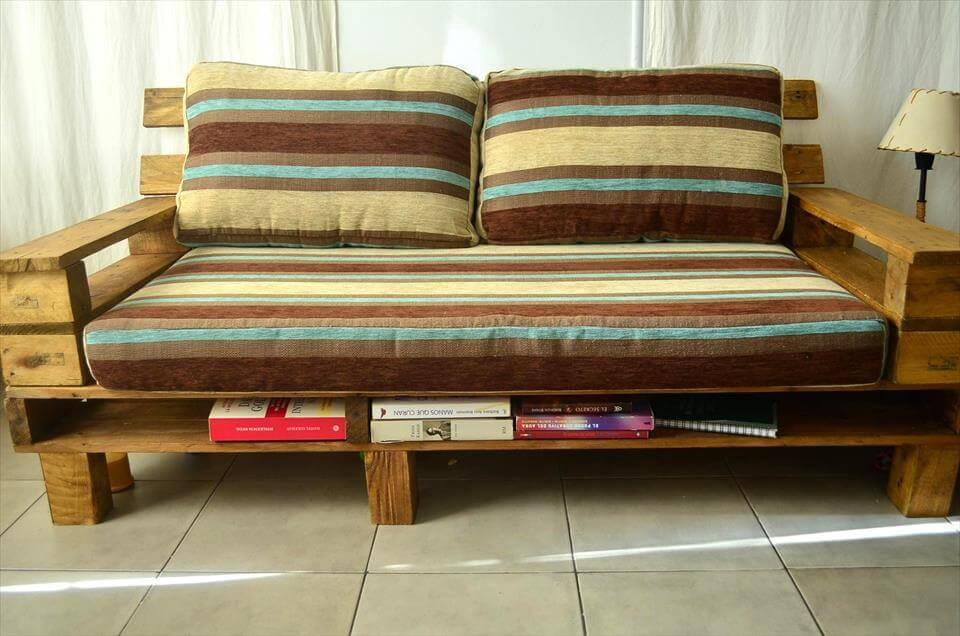 Beautiful Pallet Sofa with Coffee Table 99 Pallets