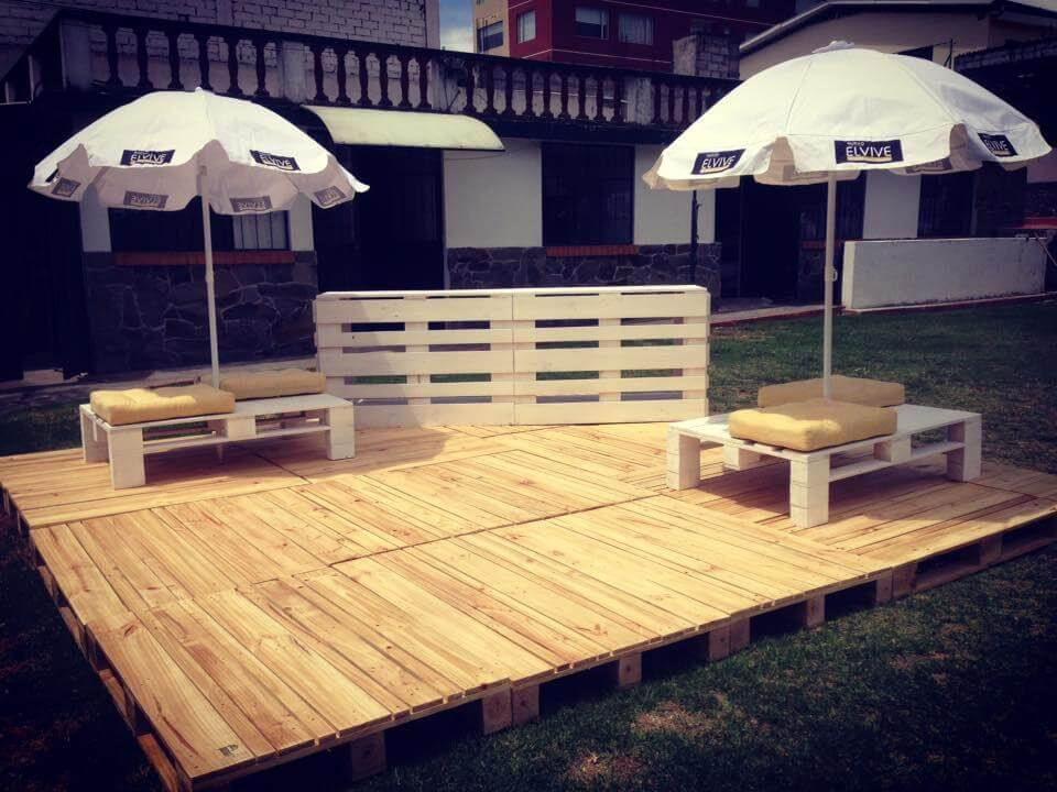 wooden pallet deck and furniture