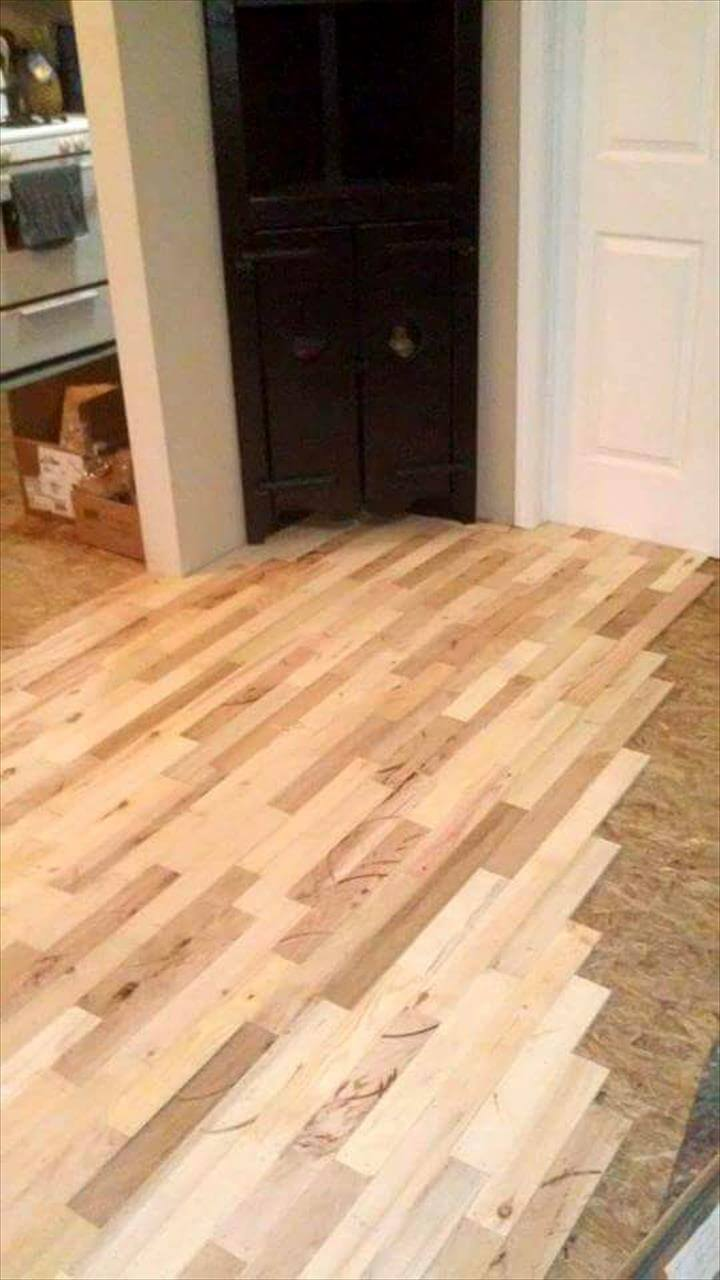 Diy Pallet Wood Flooring 99 Pallets
