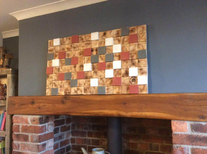 Wooden pallet geometric 3d wall art