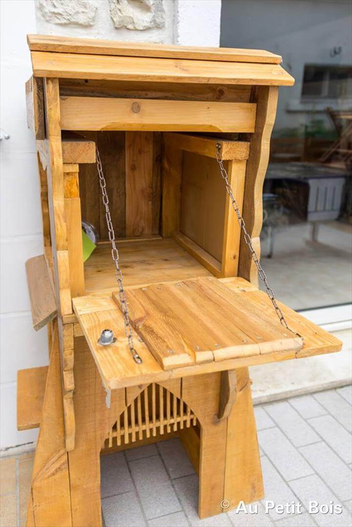 Wooden pallet mail box