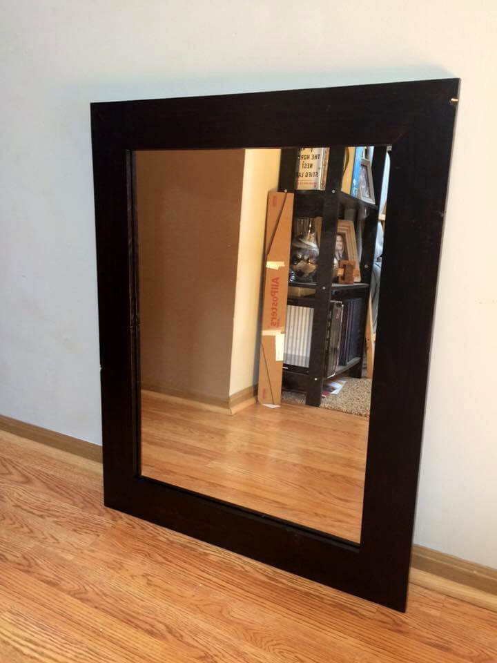 handcrafted wooden pallet mirror