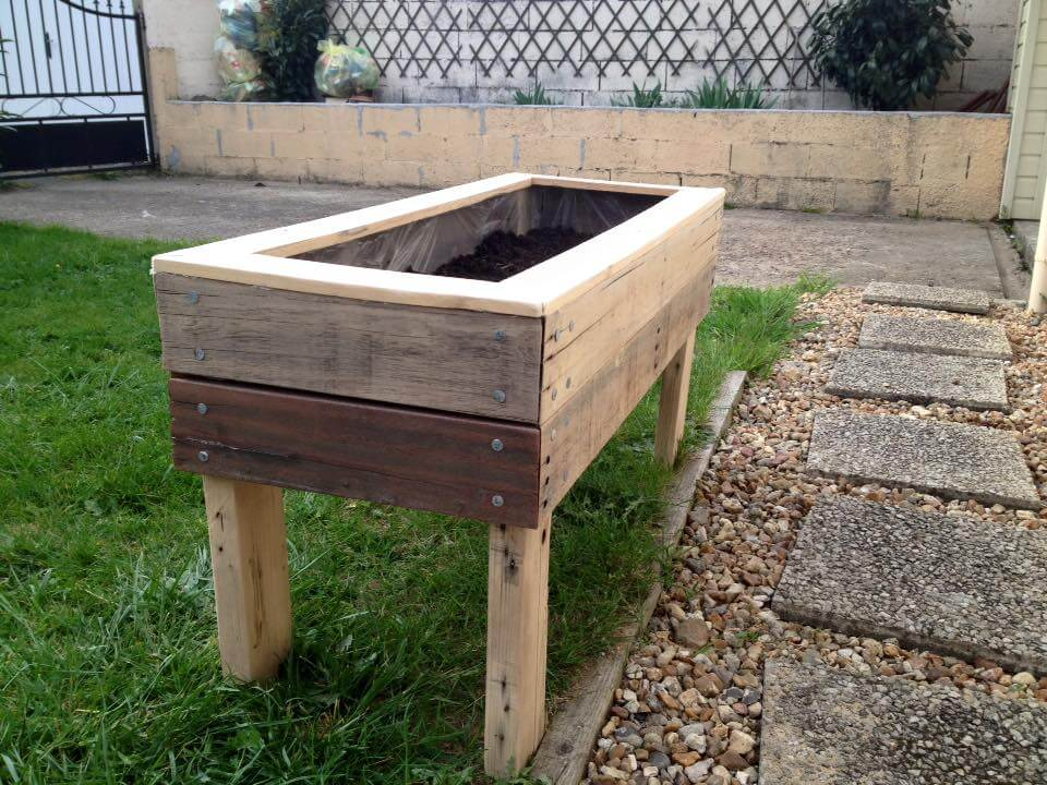 Planter boxes from pallets 99 pallets for Planters made out of pallets