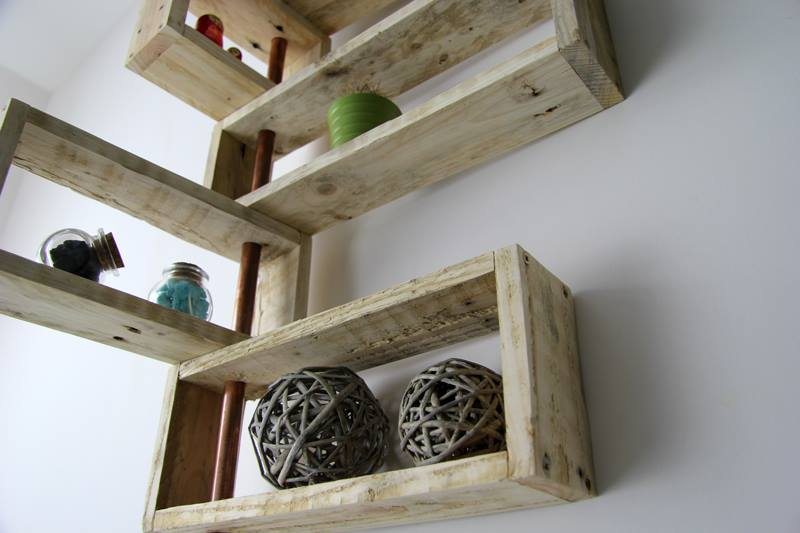 Creative Storage Shelves Made From Pallets