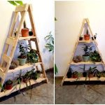 Pallet Ladder Shelf for Planters