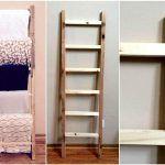 Pallet Blanket Ladder Shelf
