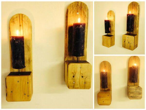 Pallet Candle Holder