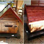 Wooden Pallet Mailbox / Parcel Box