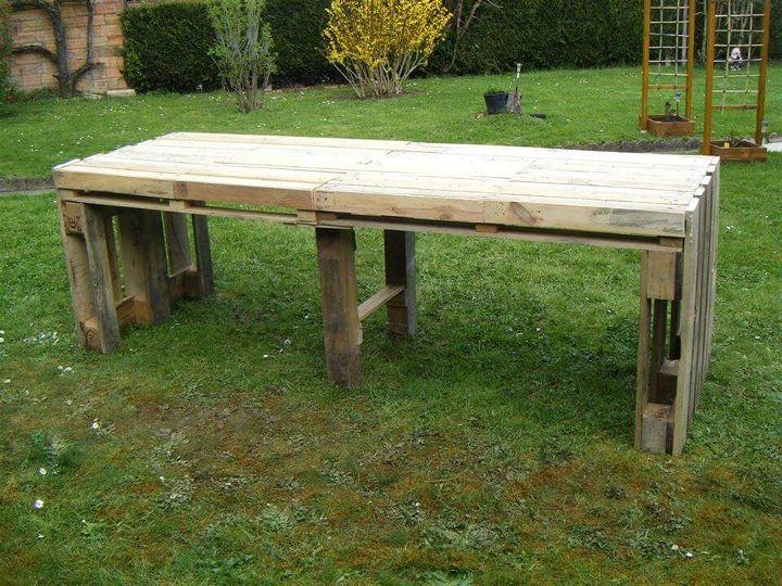 handmade wooden pallet garden table
